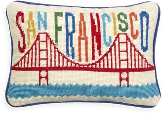 Jonathan Adler San Francisco Needlepoint Throw Pillow