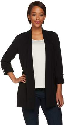 Susan Graver Weekend Cotton Modal 3/4 Sleeve Cardigan