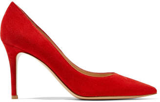 Gianvito Rossi 85 Suede Pumps - Red