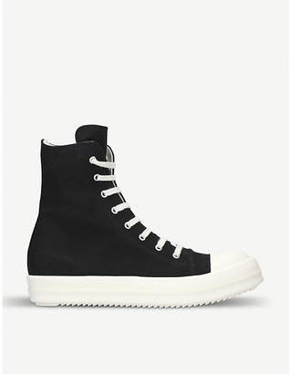 Drkshdw Hi-top canvas trainers