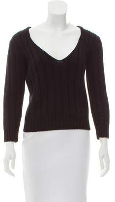 Prada Heavy V-Neck Sweater