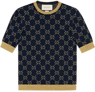 Gucci GG cotton lurex top