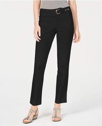 JM Collection Petite Tummy-Control Straight-Leg Pants