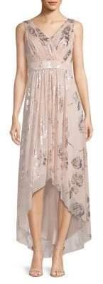 Eliza J Printed High-Low Dress