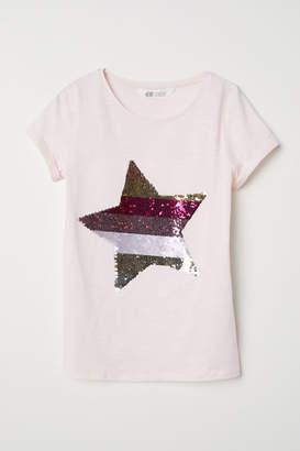 H&M Reversible Sequin T-shirt - Pink