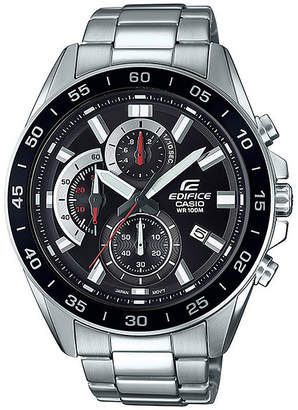 Casio Mens Silver Tone Bracelet Watch-Efv550d-1av