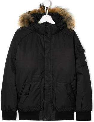 Pyrenex Kids TEEN hooded bomber jacket