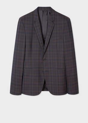 Paul Smith Men's Slim-Fit Tonal Check Wool Blazer