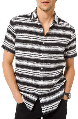 Michael Kors Men's Fane Striped Button-Down Shirt