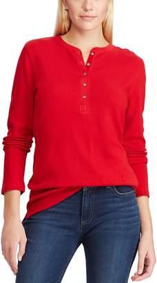 Chaps Women's Waffle-Knit Henley Top