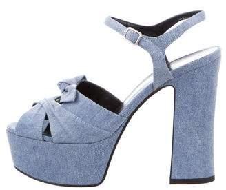 Saint Laurent Ankle Strap Platform Sandals