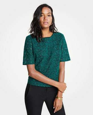 Ann Taylor Petite Embroidered Lace Top