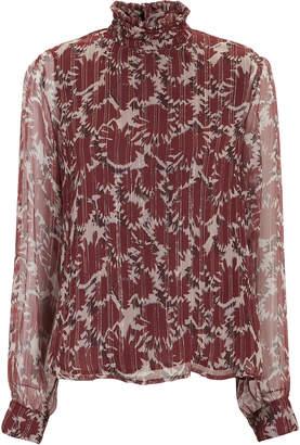 Warm Victoria Silk Chiffon Blouse