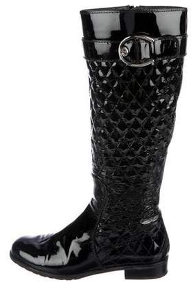 Stuart Weitzman Patent Leather Knee-High Boots
