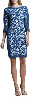 Tadashi Shoji Contour-Panel Lace Cocktail Dress $368 thestylecure.com