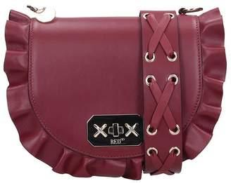 RED Valentino Shoulder Bag In Bordeaux Leather