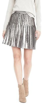 Sequin Pleated Skirt $98 thestylecure.com