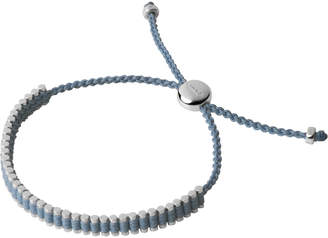Links of London Sterling Silver & Baby Blue Mini Friendship Bracelet