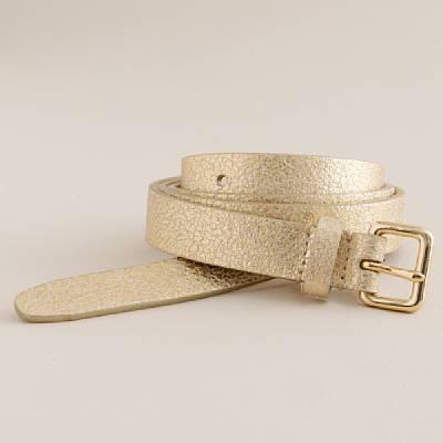 Slim square-buckle belt