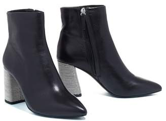 Alice + Olivia Delanie Chain Heel Leather Bootie