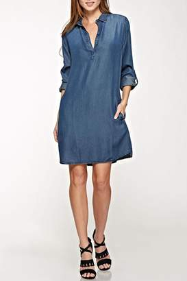Love Stitch Lovestitch Tencel Shirt Dress