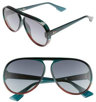 Christian Dior Lia 62mm Oversize Aviator Sunglasses