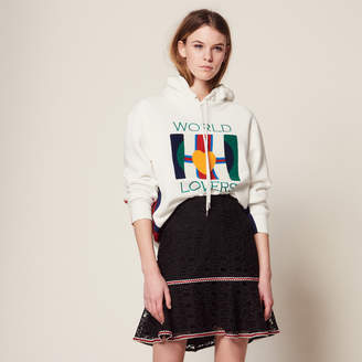 Sandro Short skirt with ruffles