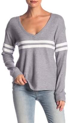 Socialite Striped Varsity Sweater