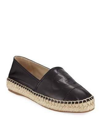 Prada Slip-On Leather Logo Espadrilles