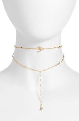 Women's Ettika Crystal Charm Layered Choker $50 thestylecure.com