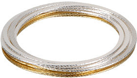 Gold and Silver Bangle Set