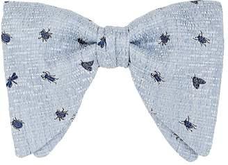 Gucci Men's Embroidered Silk-Linen Bow Tie