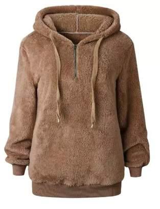 Goodnight Macaroon 'Mairi' Fleece Half Zip Hoodie (6 Colors)