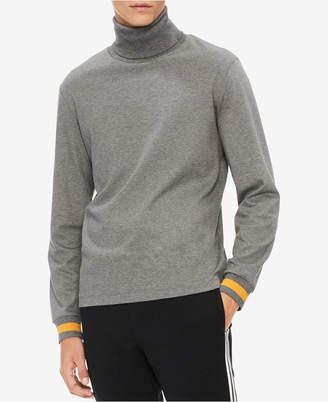 Calvin Klein Men's Classic Fit Tipped Cuff Turtleneck Shirt