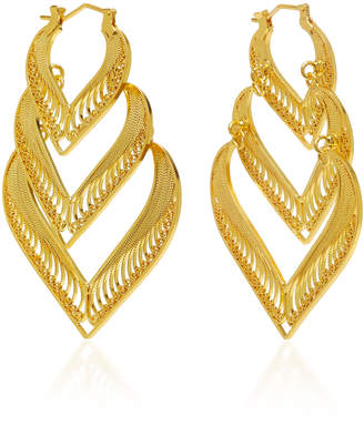 Mallarino Kora Sterling Silver And 24K Gold Vermeil Earrings