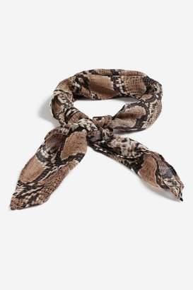Topshop Snake Print Head Scarf