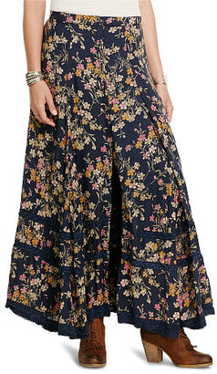 Ralph Lauren Denim & Supply Floral Button-Front Maxiskirt $165 thestylecure.com