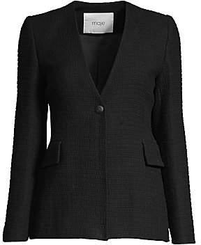 Maje Women's Collarless Blazer