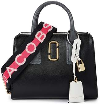 Marc Jacobs Little Big Shot Black Leather Top Handle Bag