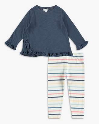 Splendid Baby Girl Ruffle Top and Stripe Legging Set