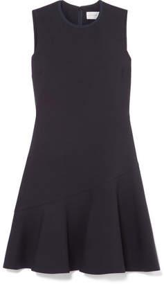 Victoria Victoria Beckham Victoria, Victoria Beckham - Flared Crepe Mini Dress - Midnight blue