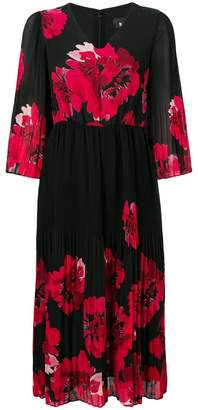 DKNY V-neck floral print dress