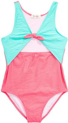 Carter's Jessica Simpson Big Girls 1-Pc. Seersucker Swimsuit