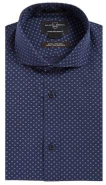 Black & Brown Black Brown Fitted Non-Iron Dot-Neat Dress Shirt