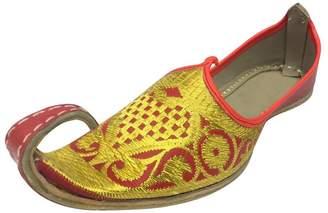 N. Step Style Aladdin Men Shoes Khussa Indian Handmade Leather Flip-Flops Khussa Juti