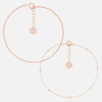 Cluse Women's Essentielle Set of Two Fine Bracelets