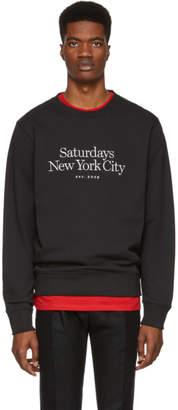 Saturdays NYC Black Miller Standard Bowery Sweatshirt