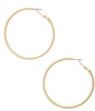 Women's Bp. Etched Hoop Earrings $12 thestylecure.com