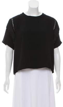 Rachel Comey Fringe-Accented Short Sleeve Top