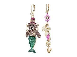 Betsey Johnson Non-Matching Mermaid Earrings